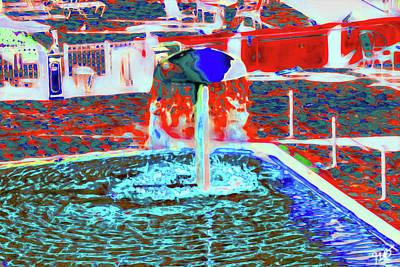 Photograph - Abstract Mushroom Fountain by Gina O'Brien