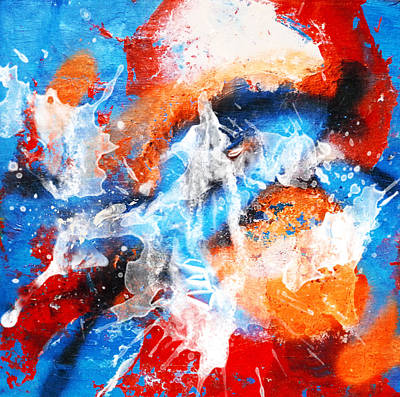 Fantasy Painting - Abstract No. 37 by Florentina Maria Popescu