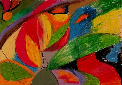 Drawing - Abstract No. 5 Springtime by Maria  Disley