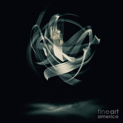 Photograph - Abstract Nude Dancing With Torches 001 by Clayton Bastiani