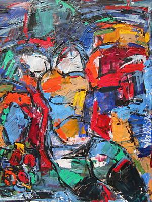 abstract nude II Art Print