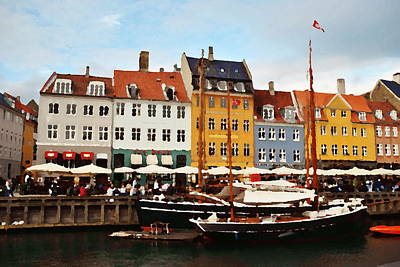 Photograph - Abstract - Nyhavn by Jacqueline M Lewis