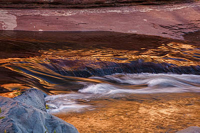 Flowing Photograph - Abstract Oak Creek Canyon by Dave Dilli