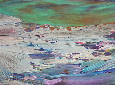 Painting - Abstract Ocean - Close Up 15 by Anita Burgermeister