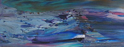 Painting - Abstract Ocean - Close Up 9 by Anita Burgermeister