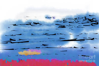 Digital Art - Abstract Ocean by Kirt Tisdale