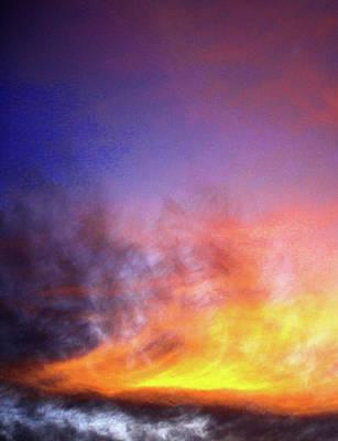 Abstract Ocean Sunset Art Print
