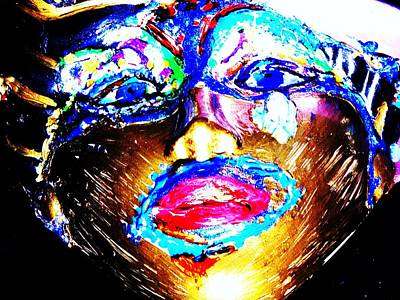 Abstract Of Faces Art Print by HollyWood Creation By linda zanini