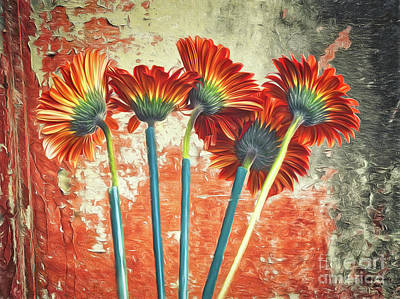 Photograph - Abstract Of Flowers  ... by Chuck Caramella