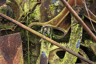 Photograph - Abstract Of Rusting Farm Equipment # 2 by John Higby