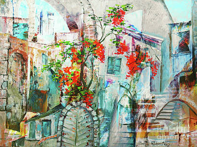Painting - Abstract Old Jaffa by Betty Rubinstein