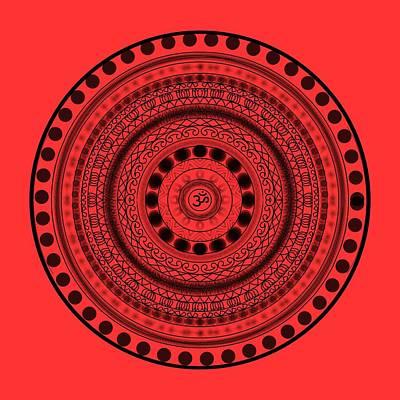 Painting - Abstract Om Mandala by Pratyasha Nithin
