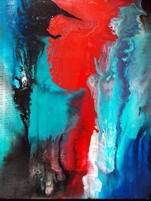 Painting - Abstract On Words by Carolyn Repka