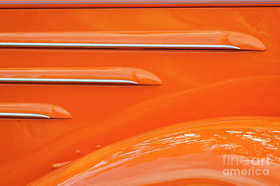 Photograph - Abstract Orange '35 by Dennis Hedberg