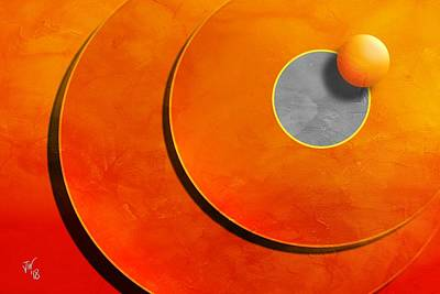 Digital Art - Abstract Orange Blast by John Wills