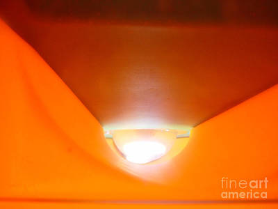 Abstract Digital Art Photograph - Abstract Orange Shaft Of Light by Jason Freedman
