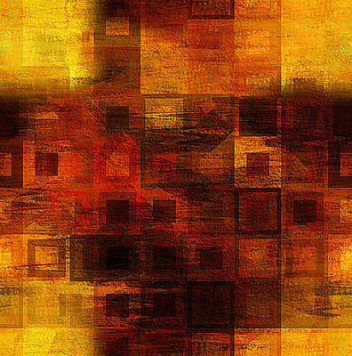 Digital Art - Abstract Orange Mosaic by Femina Photo Art By Maggie