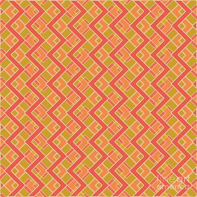 Modernart Digital Art - Abstract Orange, Red And Brown Pattern For Home Decoration by Pablo Franchi
