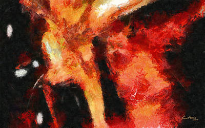 Abstract Orange Red Art Print by Russ Harris