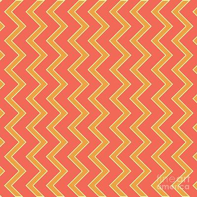 Santa Monica Digital Art - Abstract Orange, White And Red Pattern For Home Decoration by Pablo Franchi