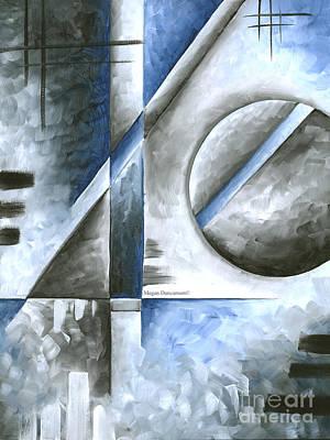 Abstract Original Art Contemporary Blue And Gray Painting By Megan Duncanson Blue Destiny I Madart Original