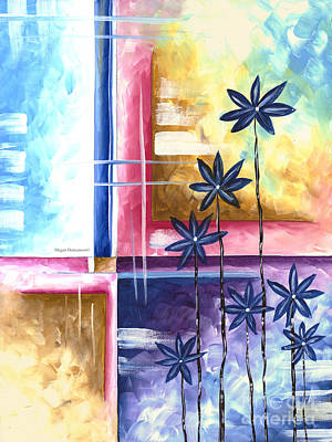 Contemporary Painting - Abstract Original Art Contemporary Colorful Painting By Megan Duncanson Spring Fever II Madart by Megan Duncanson
