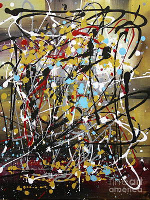 Abstract Original Art Contemporary Painting Energized I By Megan Duncanson Art Print by Megan Duncanson