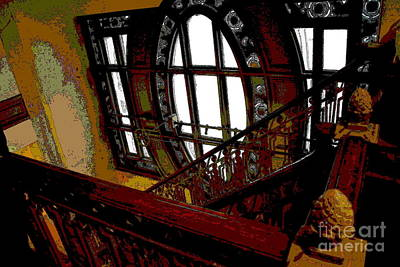 Photograph - Abstract - Ornate Stairway At Grand Central by Jacqueline M Lewis