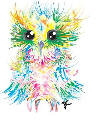 Abstract Owl Print by Darren Cannell