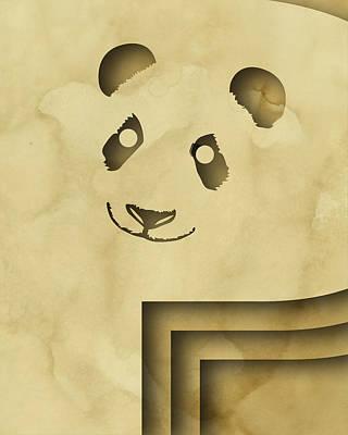 Panda Digital Art - Abstract P by Vanessa Bates