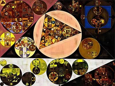 Abstract Painting - Afghan Tan Art Print by Vitaliy Gladkiy
