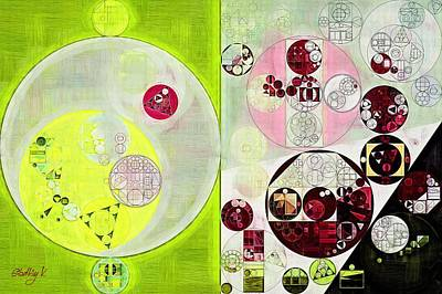 Abstract Painting - Android Green Art Print by Vitaliy Gladkiy