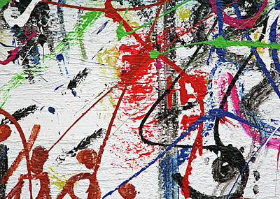 Photograph - Abstract Painting At Apartheid Wall by Munir Alawi