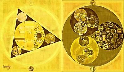 Raw Umber Digital Art - Abstract Painting - Banana Yellow by Vitaliy Gladkiy