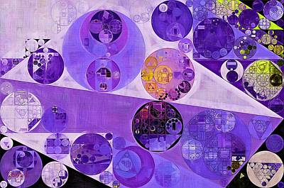 Abstract Painting - Blackcurrant Art Print