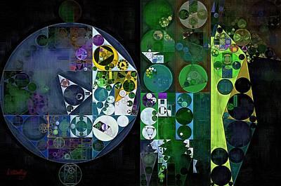 Feelings Digital Art - Abstract Painting - Blue Dianne by Vitaliy Gladkiy