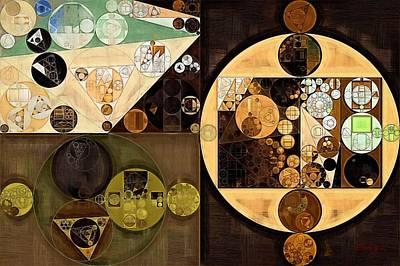 New Element Digital Art - Abstract Painting - Brown by Vitaliy Gladkiy