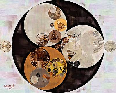 Rectangles Digital Art - Abstract Painting - Buttered Rum by Vitaliy Gladkiy