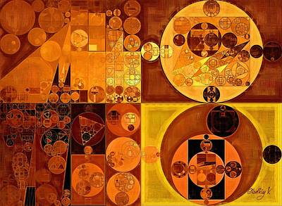 Orange Style Digital Art - Abstract Painting - Carrot Orange by Vitaliy Gladkiy