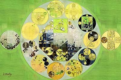 Rectangles Digital Art - Abstract Painting - Chelsea Cucumber by Vitaliy Gladkiy