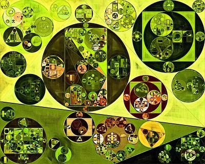 Honeysuckle Digital Art - Abstract Painting - Citron by Vitaliy Gladkiy