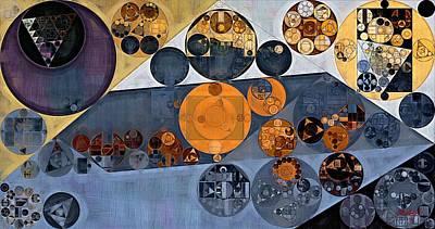 Line Style Digital Art - Abstract Painting - Cool Grey by Vitaliy Gladkiy