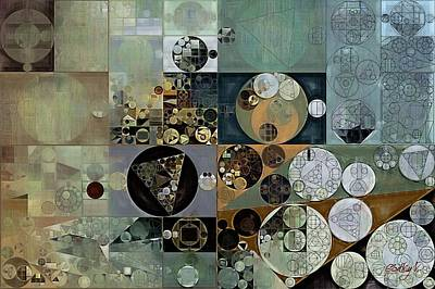 Dove Digital Art - Abstract Painting - Dove Grey by Vitaliy Gladkiy