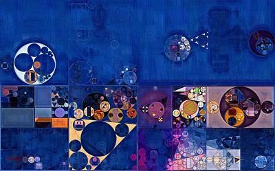 Del Rio Digital Art - Abstract Painting - Egyptian Blue by Vitaliy Gladkiy
