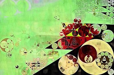 Forms Digital Art - Abstract Painting - Feijoa by Vitaliy Gladkiy