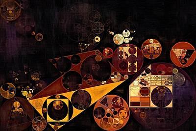 Art Print featuring the digital art Abstract Painting - Fire Bush by Vitaliy Gladkiy