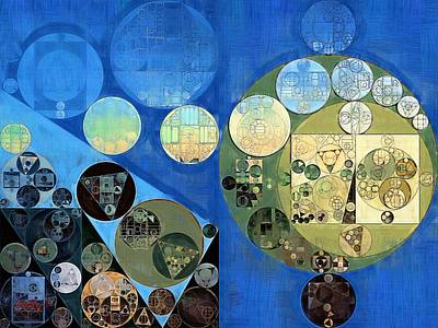 Rectangles Digital Art - Abstract Painting - Green Mist by Vitaliy Gladkiy