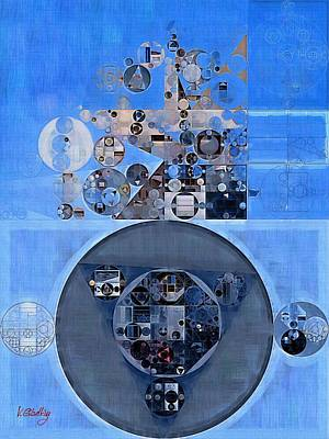 Abstract Painting - Gulf Blue Print by Vitaliy Gladkiy