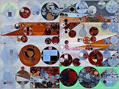 Geometric Symbol Digital Art - Abstract Painting - Heather by Vitaliy Gladkiy