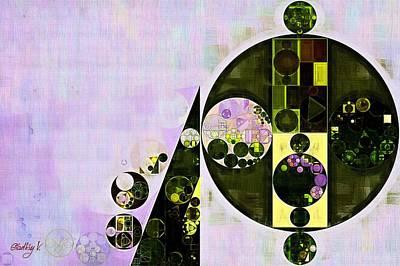 Ornamental Digital Art - Abstract Painting - Languid Lavender by Vitaliy Gladkiy